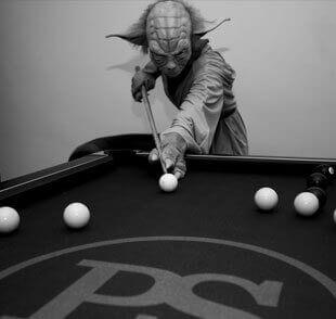 PS Yoda Shooting Some Pool