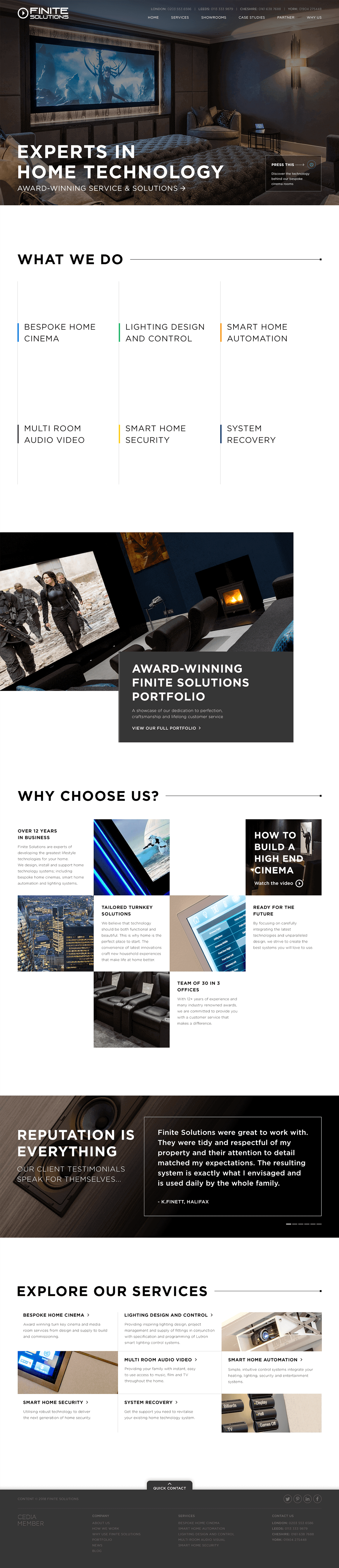 Finite Solutions Home page