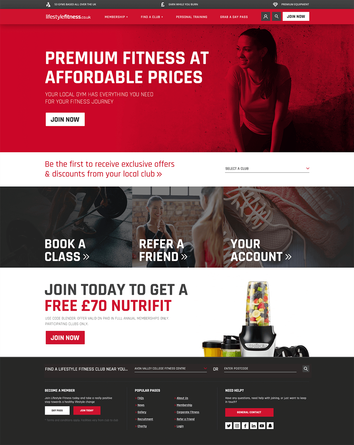 Lifestyle Fitness Homepage