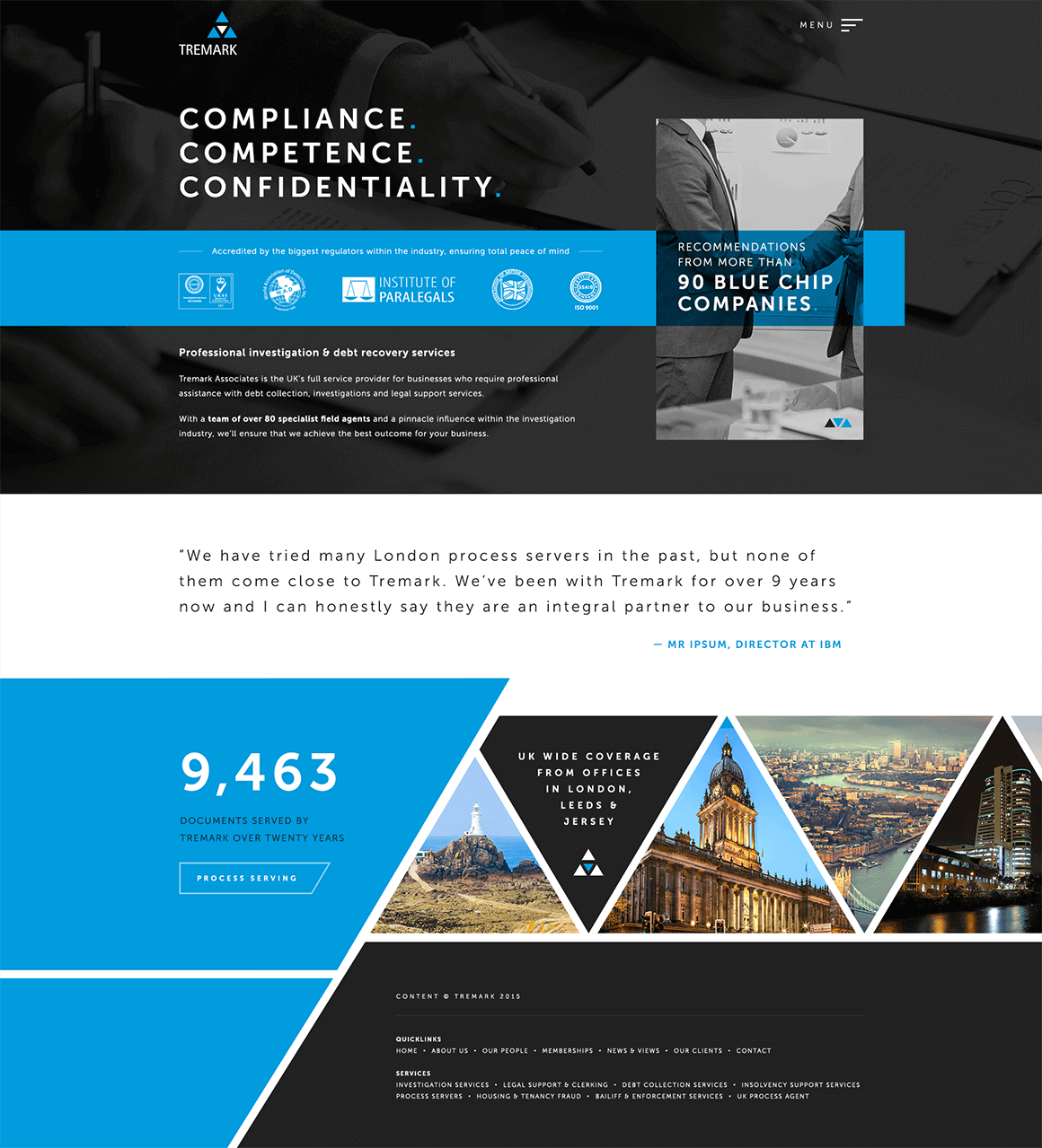 Tremark Home page